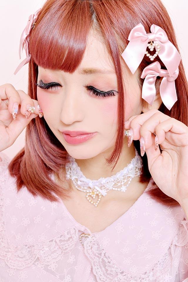 【Princess Melody】♪パールハートレースチョーカー♪ - ホワイト size-F