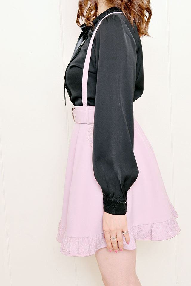 【MA*RS】ハートバックルフレアスカート - ピンク size-F