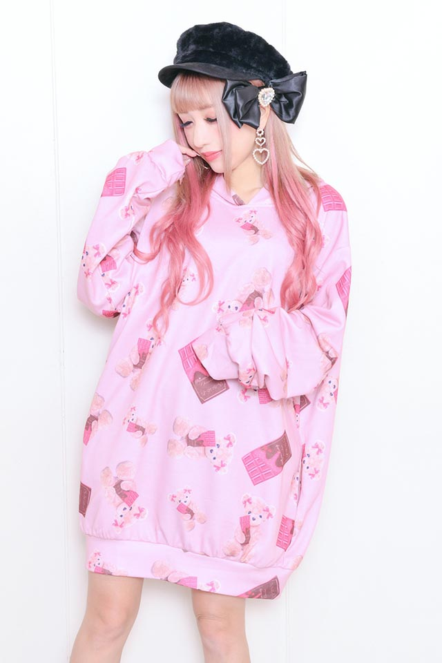 ☆34%OFF☆【Princess Melody】♪Loveチョコくまちゃんプルオーバーパーカー♪ - ピンク size-F