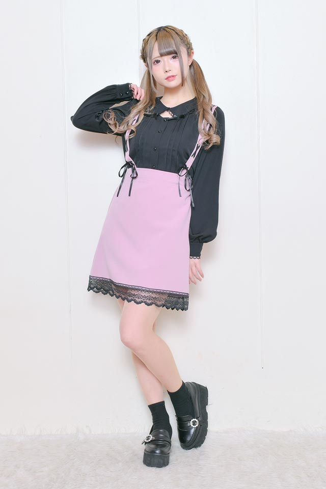 【MA*RS】スピンドルストラップジャンスカ - ピンク size-F