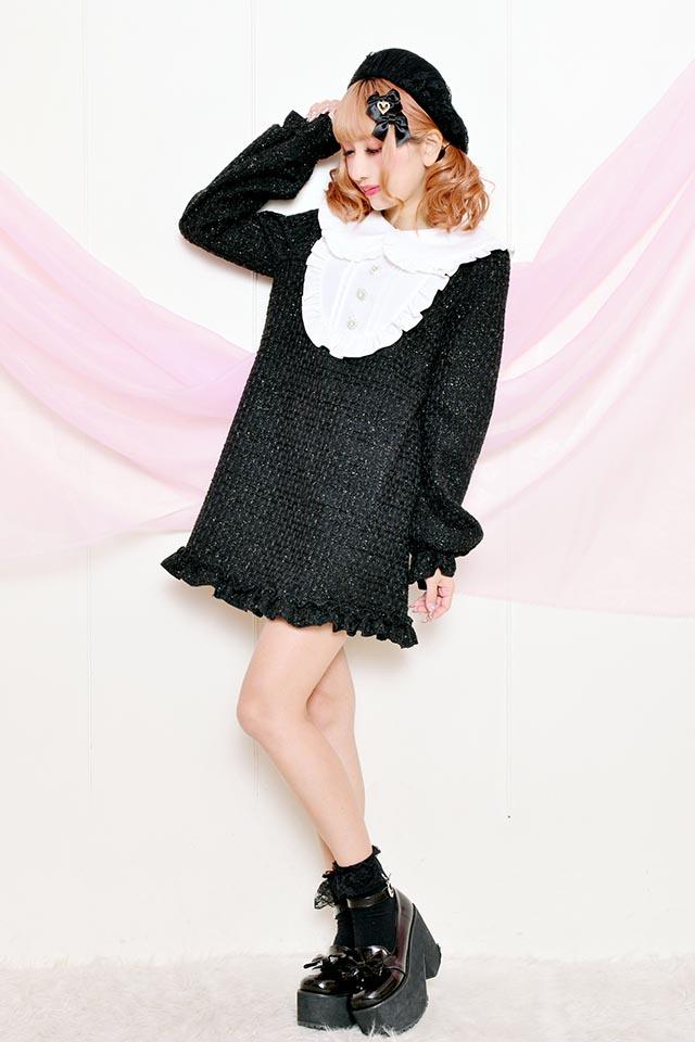 【Princess Melody】♪ヨークメイドワンピ♪ - ブラック size-F