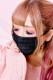 【Princess Melody】♪サイドフリル×レースプリーツマスク♪ - ブラック size-F