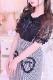 【MA*RS】リボンクロス付ハートポケットスカート - グレー size-F