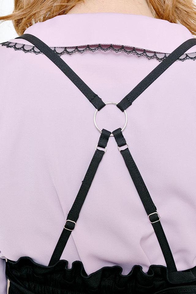 【MA*RS】バックアジャスター&リボンショートパンツ - ブラック size-F