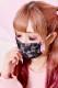 【Princess Melody】♪サイドフリル×レースプリーツマスク♪ - PNK/ブラック size-F