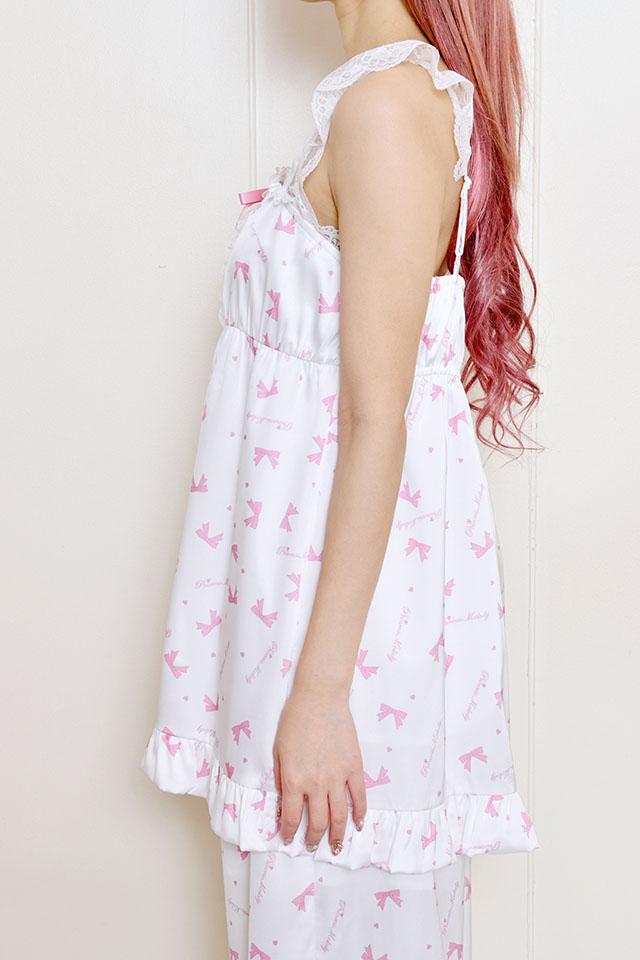 【Princess Melody】♪【2点SET】プリンセスおりぼん柄ルームウェア♪ - ホワイト size-F