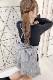 【MA*RS】バックアジャスター&リボンショートパンツ - BLK/ホワイト size-F