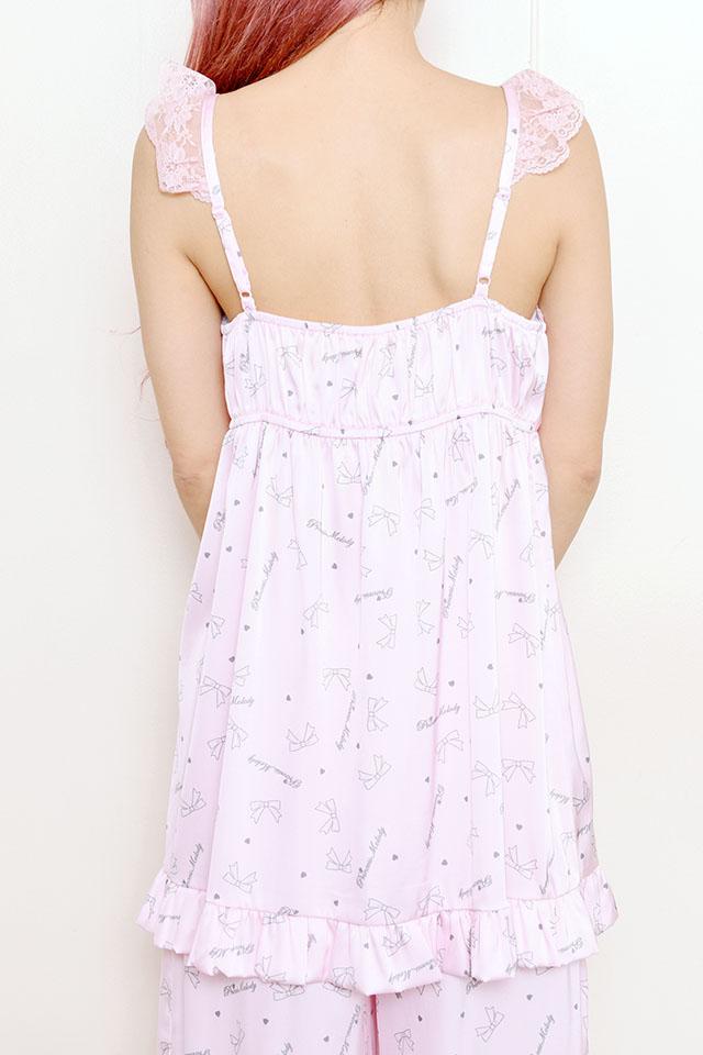 【Princess Melody】♪【2点SET】プリンセスおりぼん柄ルームウェア♪ - ピンク size-F