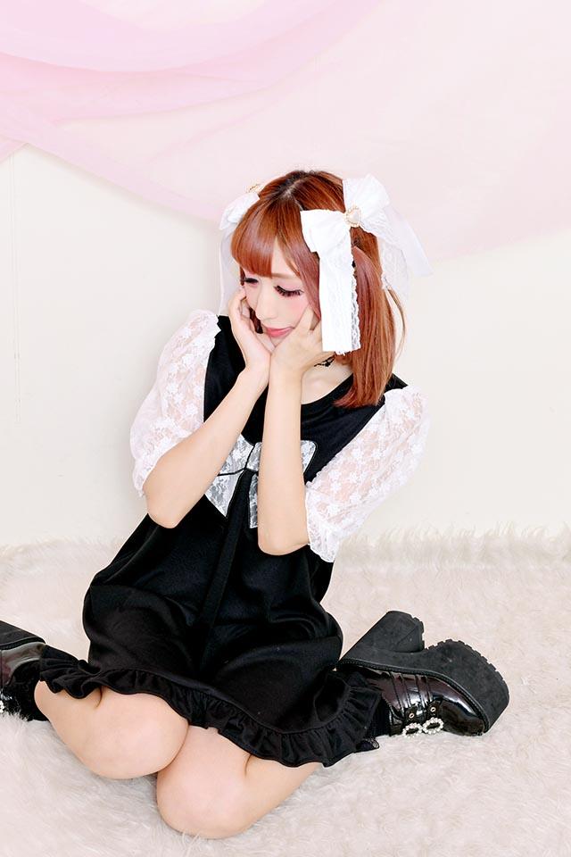 ☆47%OFF☆【Princess Melody】♪レースおりぼん ひめTシャツワンピ♪ - ブラック size-F