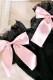 【Princess Melody】♪レース&おりぼんニーハイソックス♪ - BLK/ピンク size-F