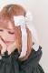 【Princess Melody】♪ゆらゆらハートビジューおりぼんクリップ♪ - ホワイト size-F