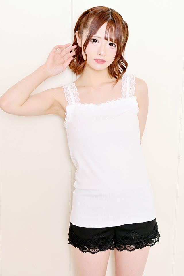 【MA*RS】インナーにピッタリ♪レース×テレコキャミ - ホワイト size-F