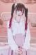 【Princess Melody】♪パールハートレースおりぼんクリップ♪ - ホワイト size-F