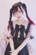 【Princess Melody】♪パールハートレースおりぼんクリップ♪ - ブラック size-F