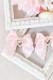 【Princess Melody】♪2個SETパールハート付きサイドフリルおりぼんクリップ♪ - ピンク size-F