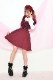 【Princess Melody】♪レースアップハートエプロンシャンスカ♪ - ワインレッド size-F