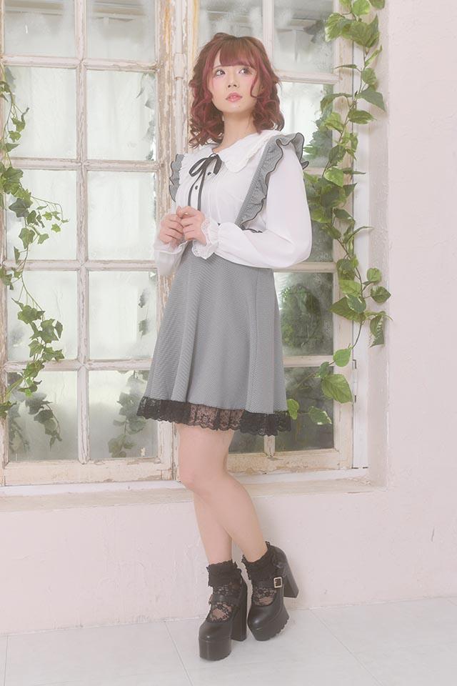 【MA*RS】三角レース襟セーラーブラウス - ホワイト size-F
