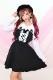 【Princess Melody】♪レースアップハートエプロンシャンスカ♪ - BLK/ホワイト size-F