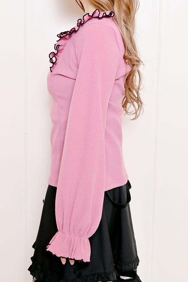 【MA*RS】はしごレースフリルTOPS - ピンク size-F