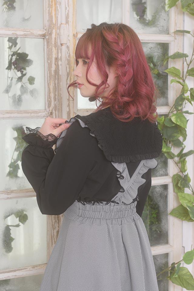 【MA*RS】三角レース襟セーラーブラウス - ブラック size-F