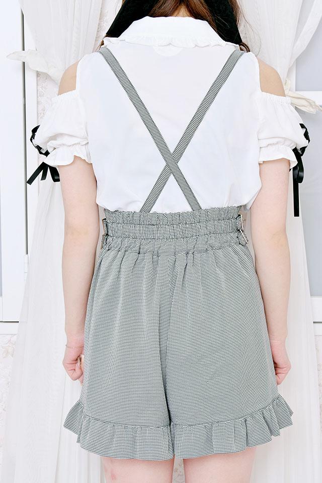 【MA*RS】Wバックルプリーツショートパンツ - グレー size-F