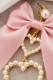 【Princess Melody】♪ダブルハート×おりぼんピアス♪ - ピンク size-F