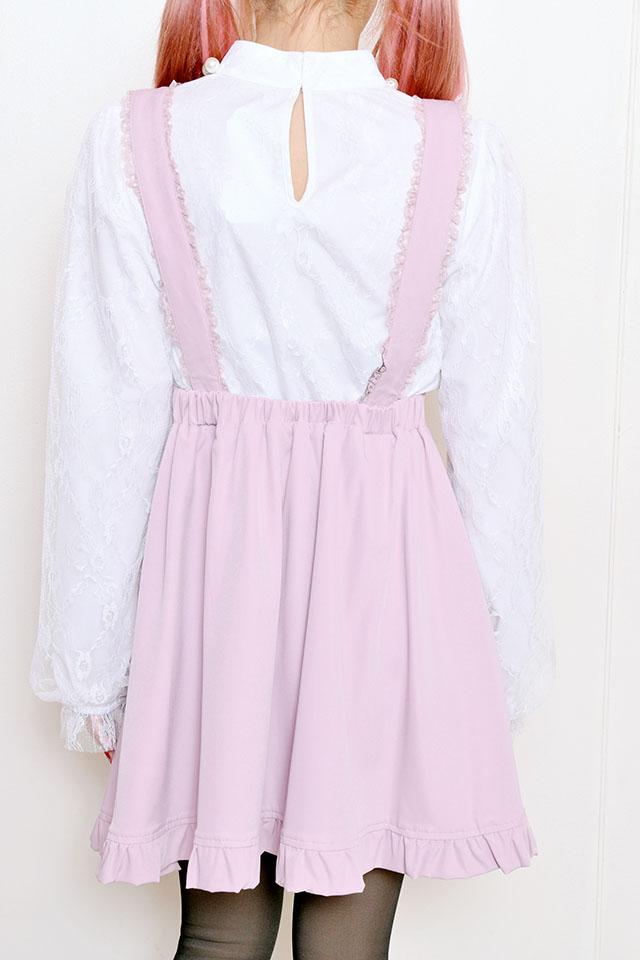 【Princess Melody】♪パールハートバックル付きフレアジャンスカ♪ - ピンク size-F