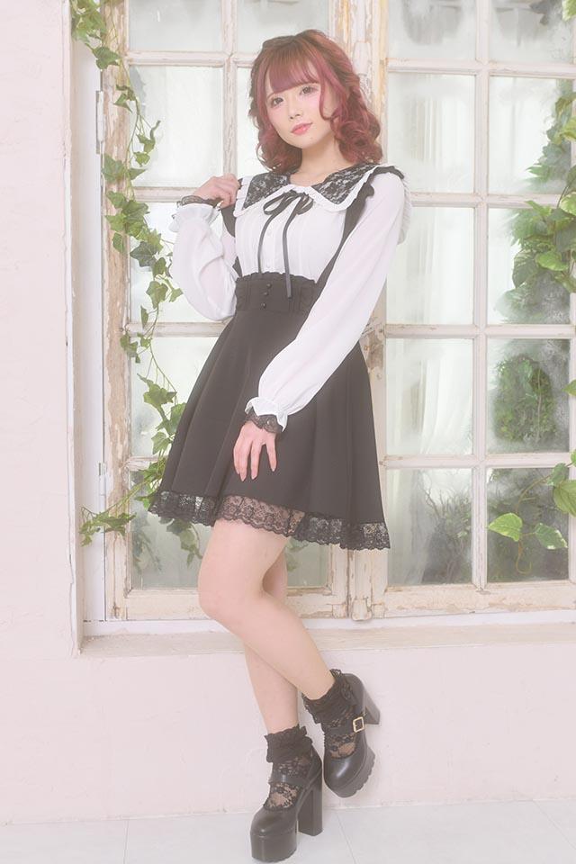 【MA*RS】三角レース襟セーラーブラウス - WHT/ブラック size-F
