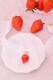 【Princess Melody】♪いちごおりぼんチョーカー♪ - ホワイト size-F