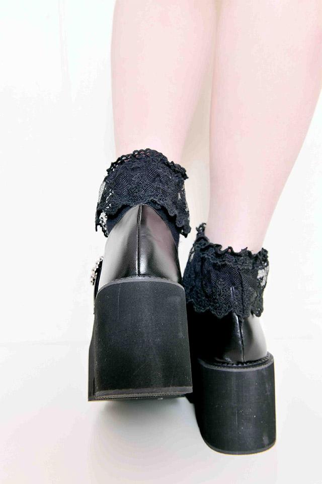 【MA*RS】キラキラバックルパンプス - ブラック