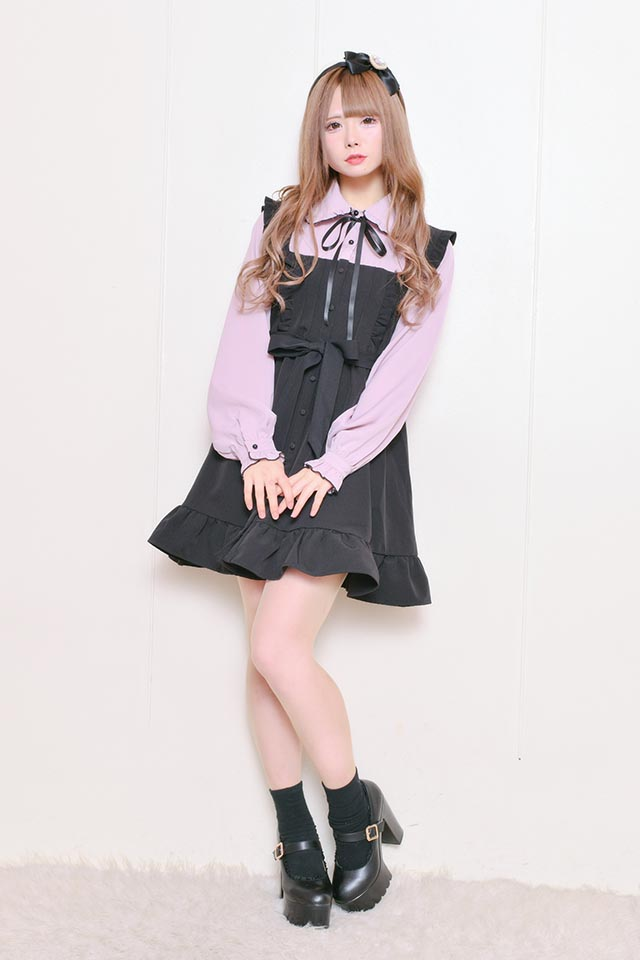 ☆21%OFF☆【MA*RS】エプロンワンピース - ピンク size-F