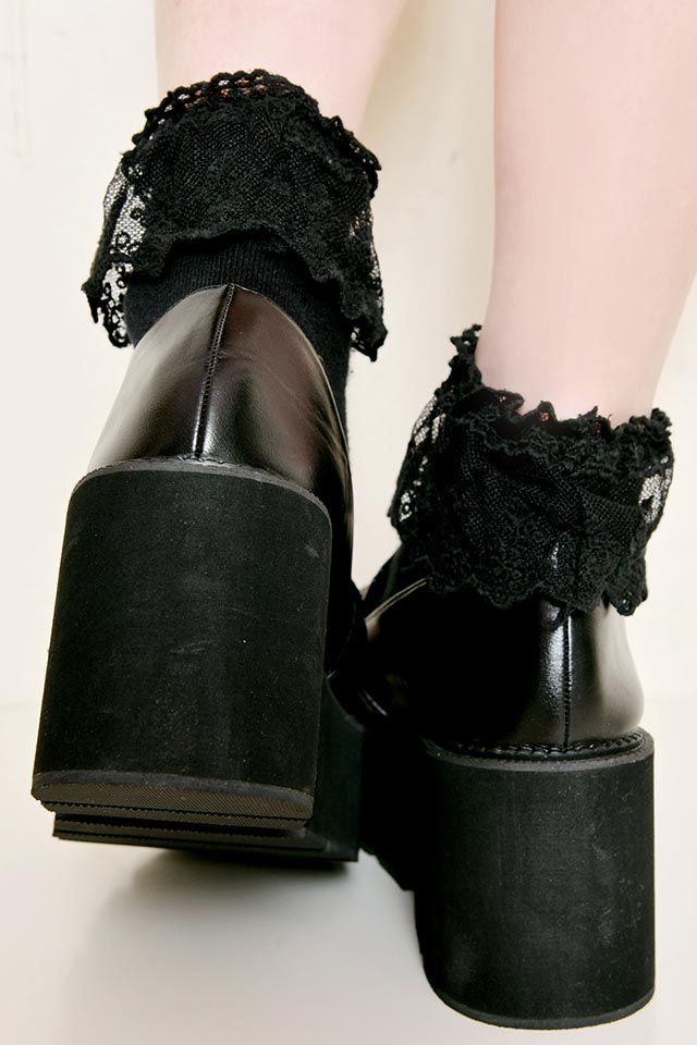 【MA*RS】キラキラバックルローファー - ブラック