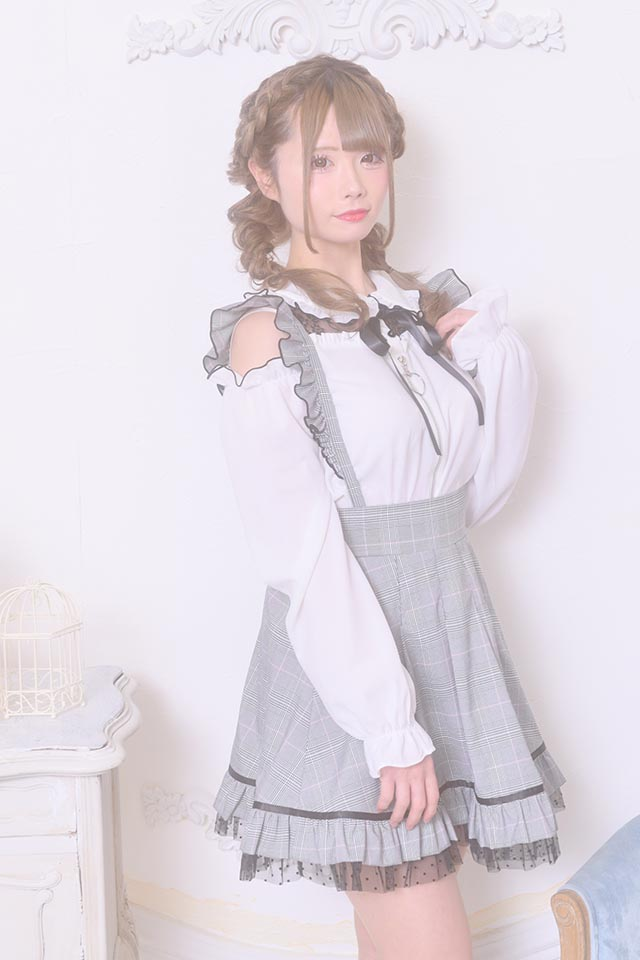 【MA*RS】ハートZIP肩あきブラウス - ホワイト size-F