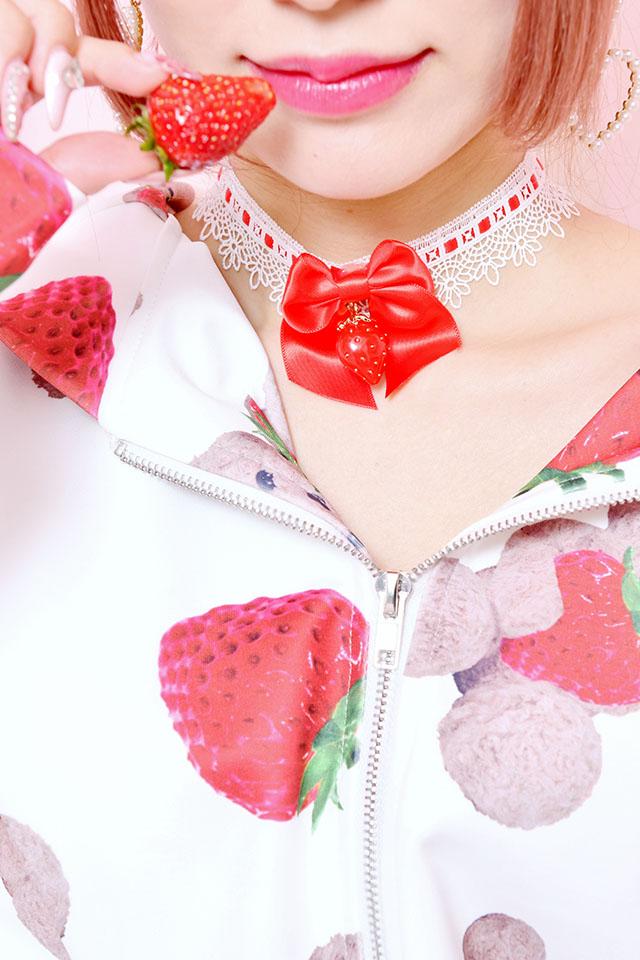 ☆60%OFF☆【Princess Melody】♪いちごおりぼんチョーカー♪ - レッド size-F