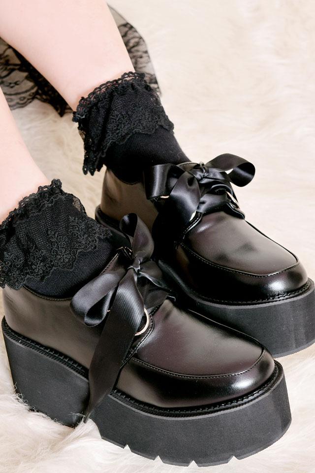 【MA*RS】BIGリボンシューズ - ブラック
