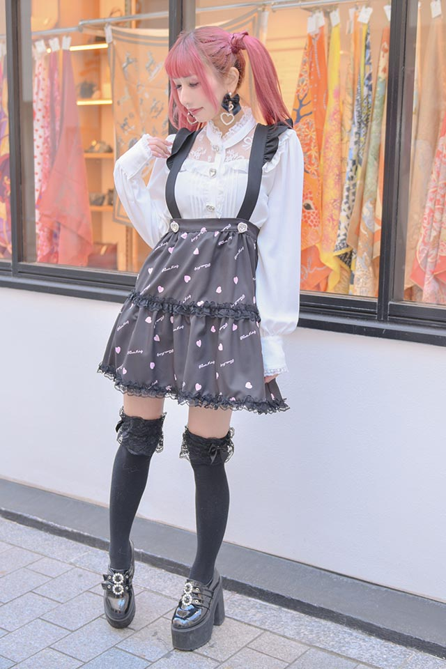 【Princess Melody】♪おりぼんれーす切替ブラウス♪ - ホワイト size-F