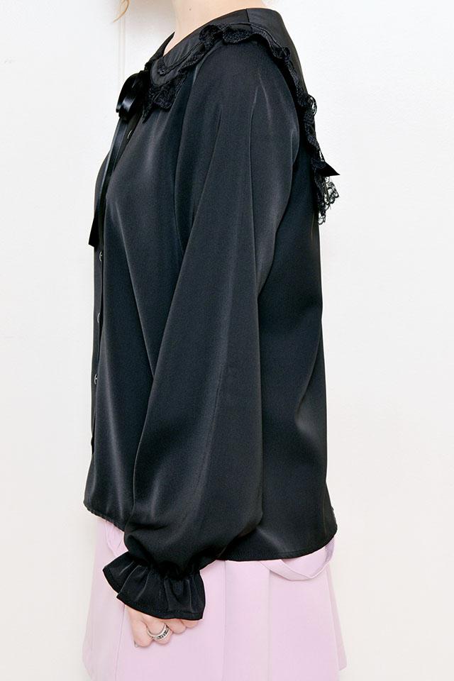 【MA*RS】セーラー襟リボンブラウス - ブラック size-F