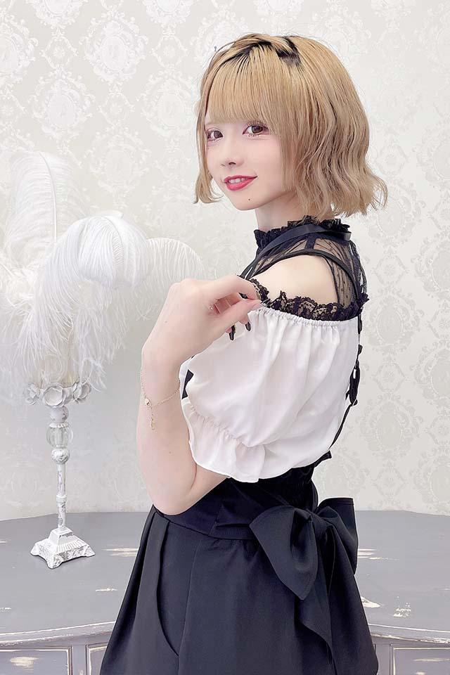 【MA*RS】肩開きレースプルオーバーブラウス - ホワイト size-F