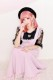 【Princess Melody】♪ハート×レース袖TOPS♪ - ブラック size-F