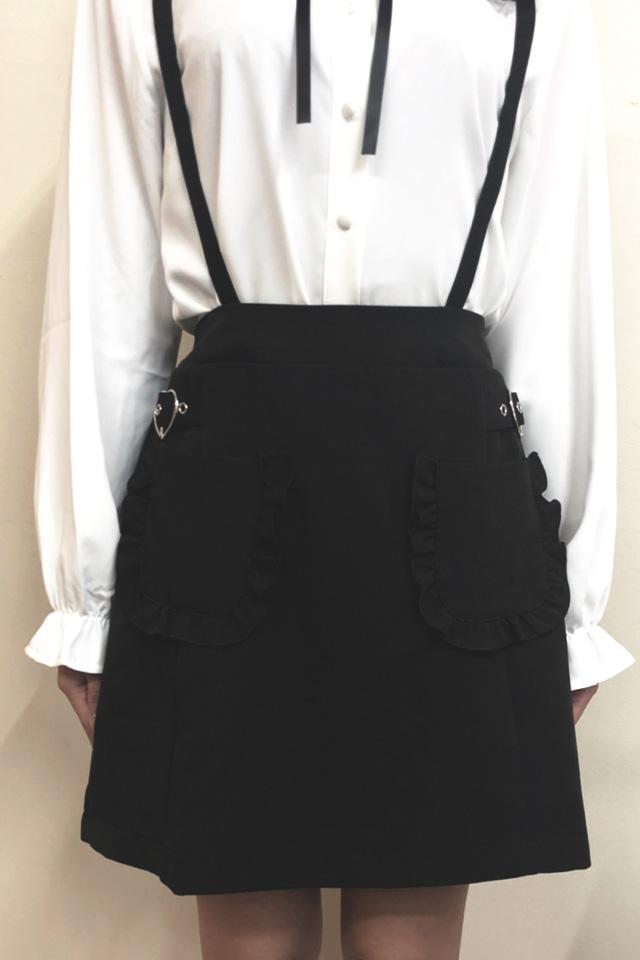 【MA*RS】ハートバックルポケットジャンスカ - ブラック size-F