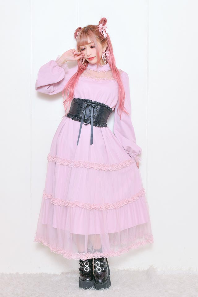 ☆32%OFF☆【Princess Melody】♪プリンセスロングワンピース♪ - ピンク size-F