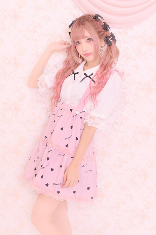 【Princess Melody】♪ハート柄フレアジャンスカ♪ - ピンク size-F