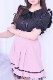 【MA*RS】裾ドットチュールタックスカート - ピンク size-F
