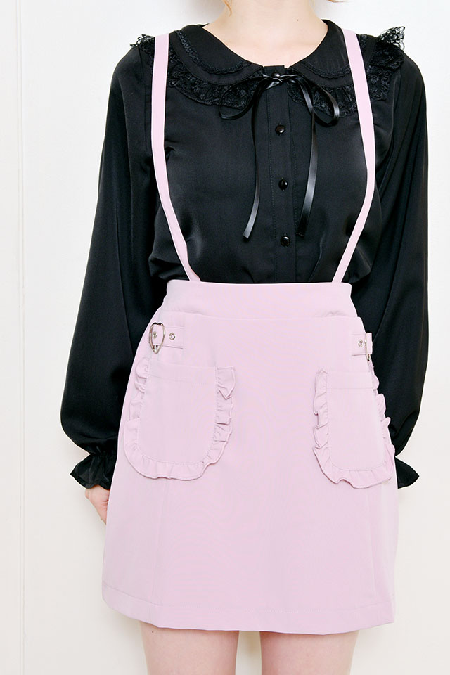 【MA*RS】ハートバックルポケットジャンスカ - ピンク size-F