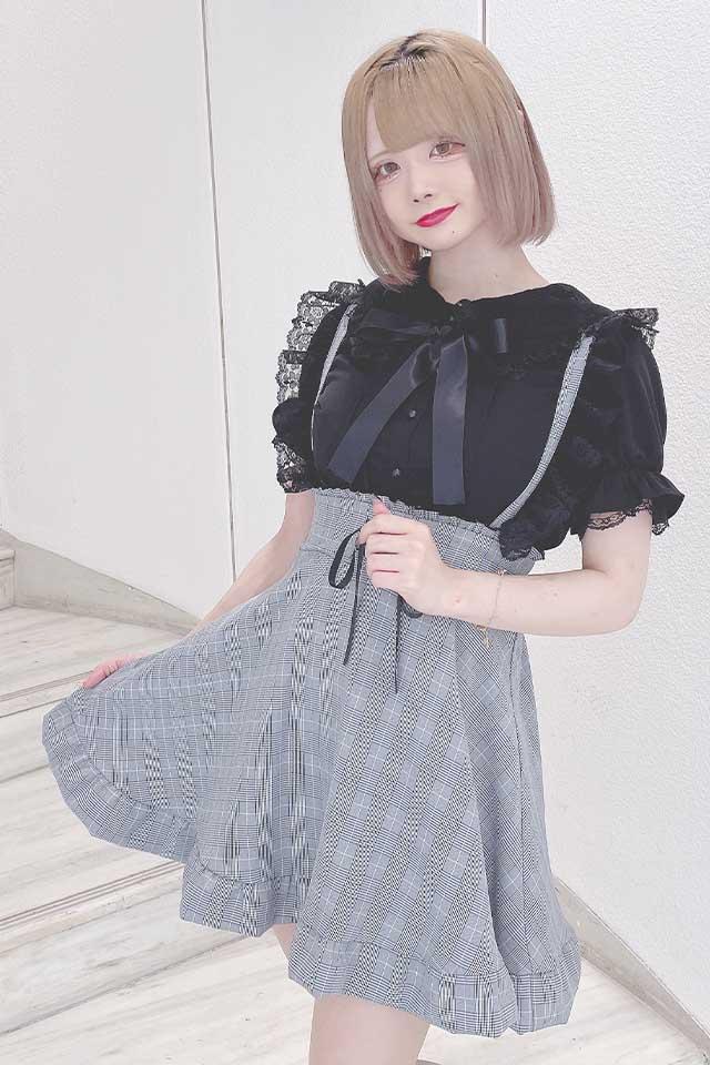 【MA*RS】リボンフレアジャンスカ - グレー size-F