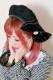 【Princess Melody】♪フロントおりぼん付レースベレー帽♪ - ブラック size-F