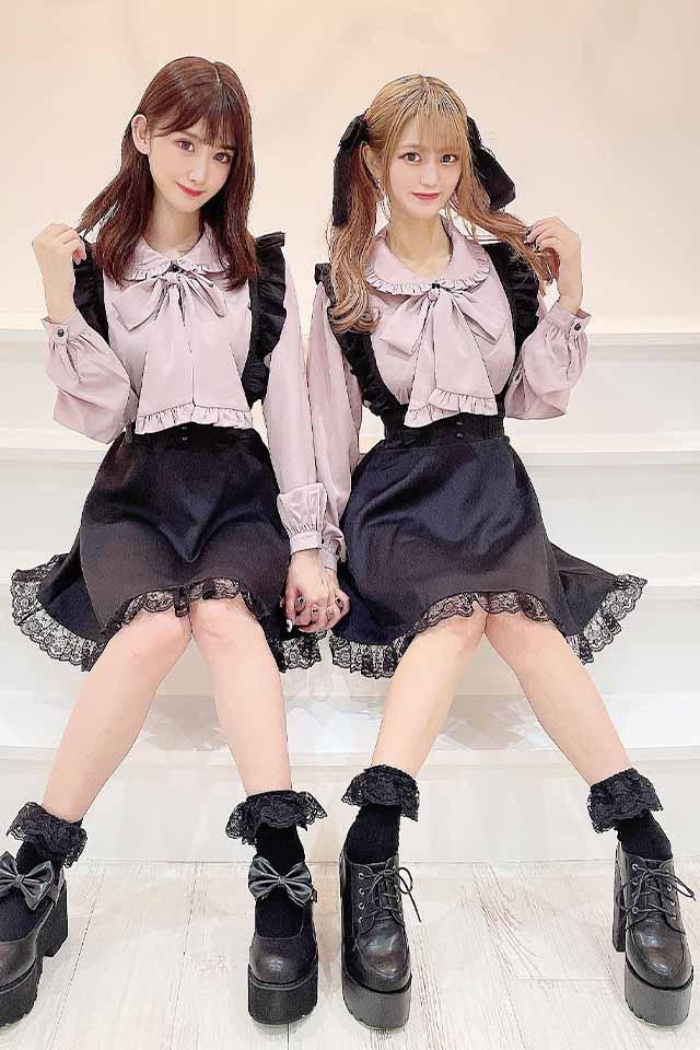 【MA*RS】フリルBigリボンブラウス - ピンク size-F