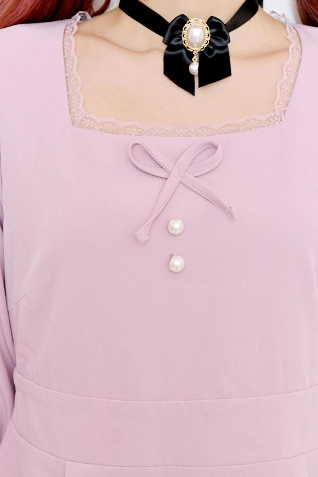 ☆36%OFF☆【MA*RS】パールリボンワンピース - ピンク size-F