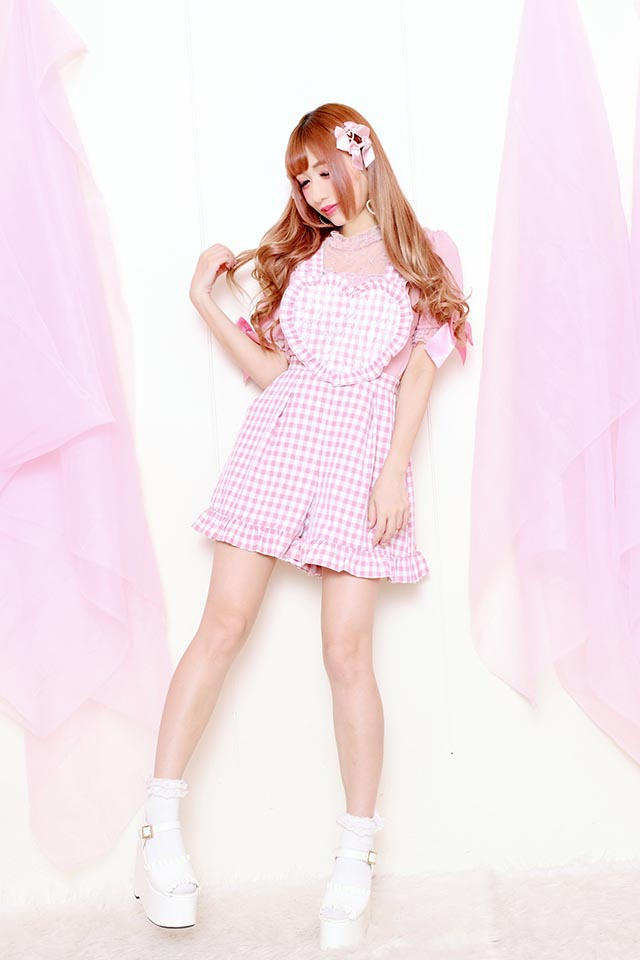 ☆48%OFF☆【Princess Melody】♪ハイネックレース切替TOPS♪ - ピンク size-F