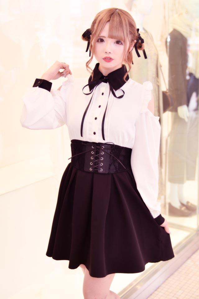 【MA*RS】肩あきクレリックワンピース - ホワイト size-F